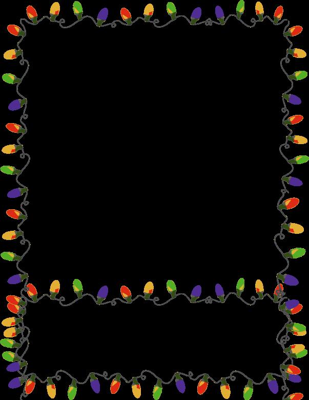 Christmas light border