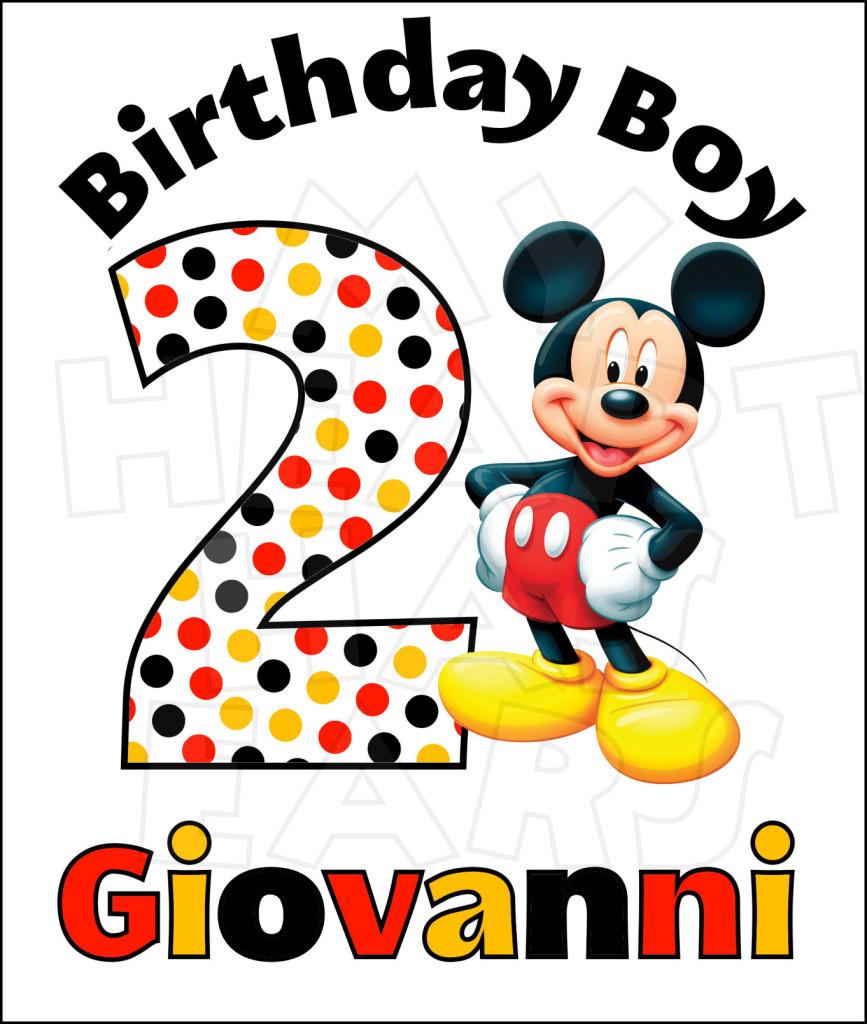 Disney Mickey Mouse Birthday .-Disney Mickey Mouse Birthday .-3