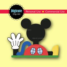 Disney Mickey Mouse Clubhouse Digital CL-Disney Mickey Mouse Clubhouse Digital CLIP ART by Digicute on Etsy-17