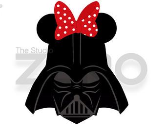 Disney Mini Mouse- Darth Vader Digital C-Disney Mini Mouse- Darth Vader Digital Clipart-16