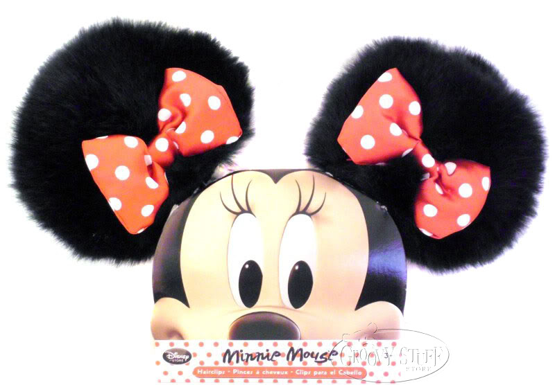 Disney Minnie Mouse Ears Hair Clips with Red Bow Accessory Hat Plush NEW. photo MinnieEarClips2copy_zpsfd3c222c.jpg
