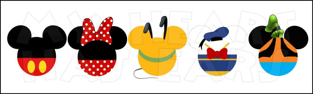 Disney World Fab Five Mickey .