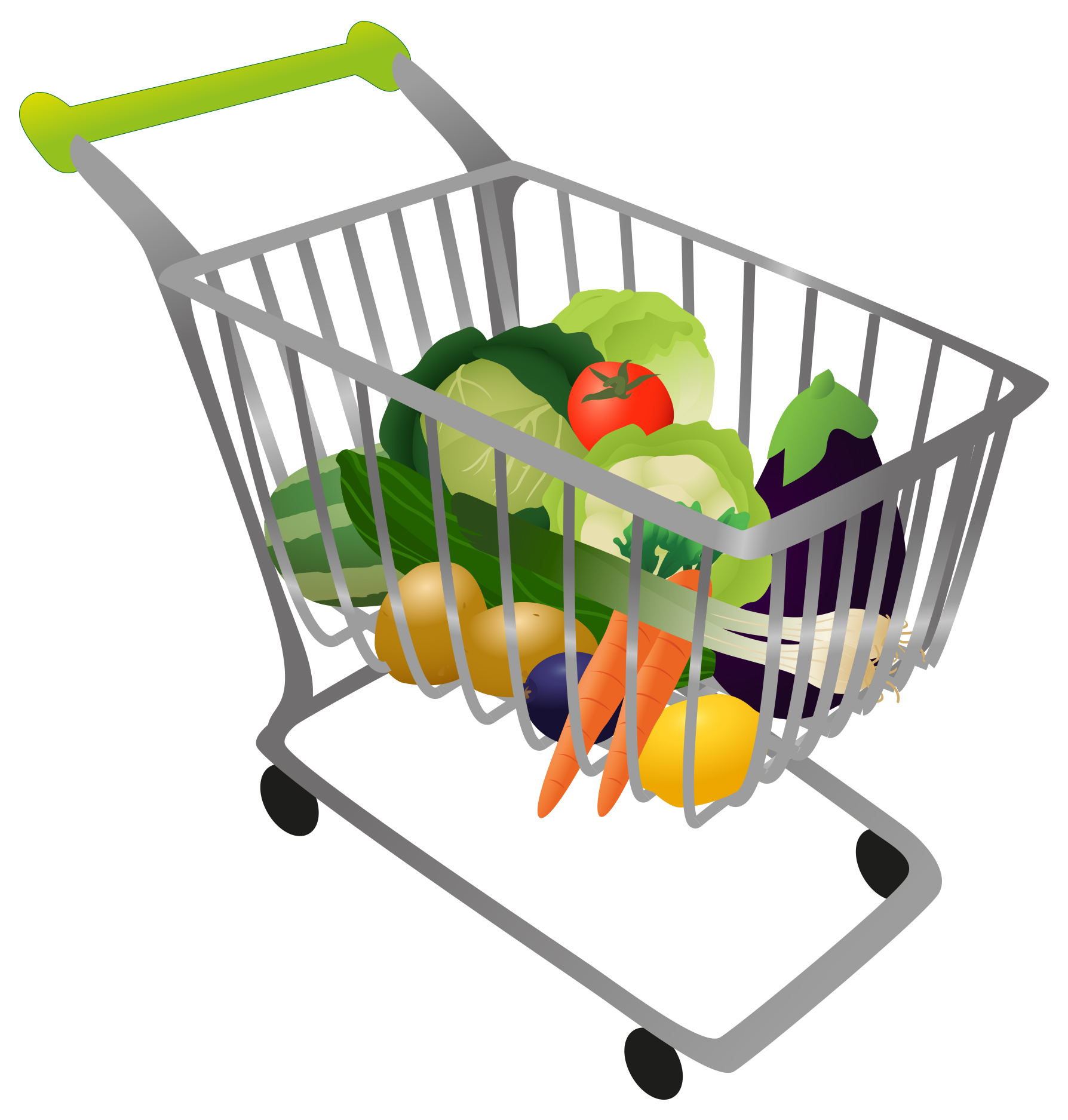 Displaying 20 Images For Kitc - Grocery Cart Clipart