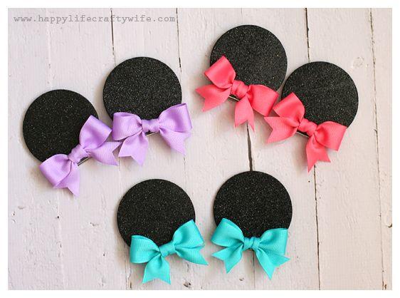 DIY Foam Minnie Mouse Ears - Designed by www.happylifecraftywife clipartall.com