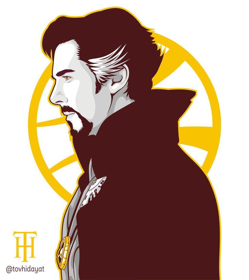 Doctor Strange Vector Portrait By Tovhid-Doctor Strange Vector Portrait by tovhidayat ClipartLook.com -14