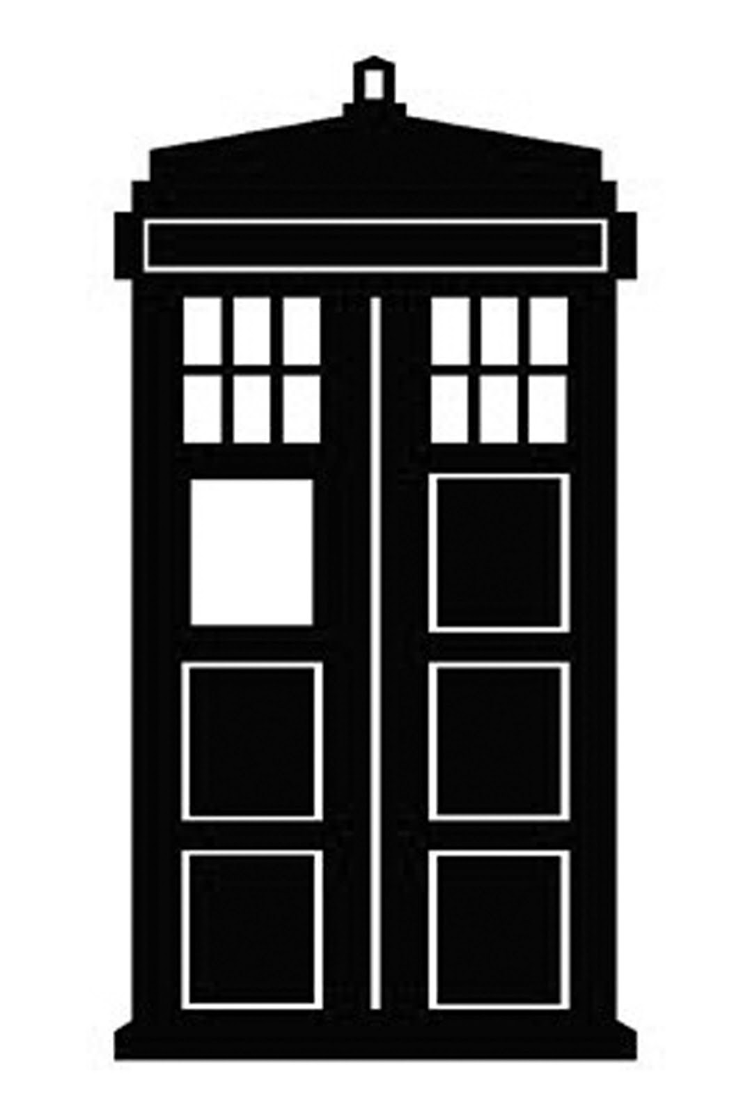 Doctor Who Stencil Silhouette - Doctor Who Clipart