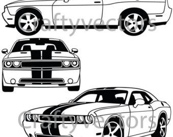 Dodge Challenger 2014 Vector File-Dodge Challenger 2014 Vector File-11
