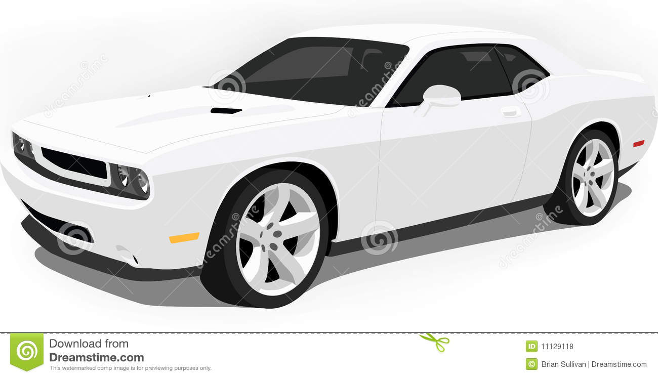 Dodge Challenger Muscle Car On White. A -Dodge Challenger Muscle Car On White. A Vector .eps illustration of an  American Dodge-15