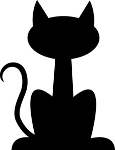 Dog And Cat Silhouette Clip Art Free-dog and cat silhouette clip art free-9