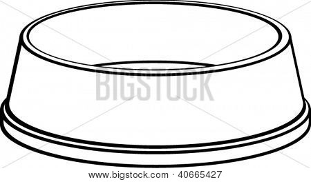 dog bowl clip art