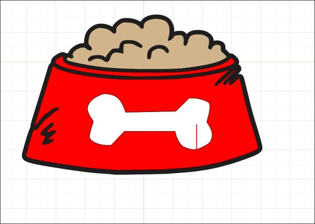 dog bowl clipart