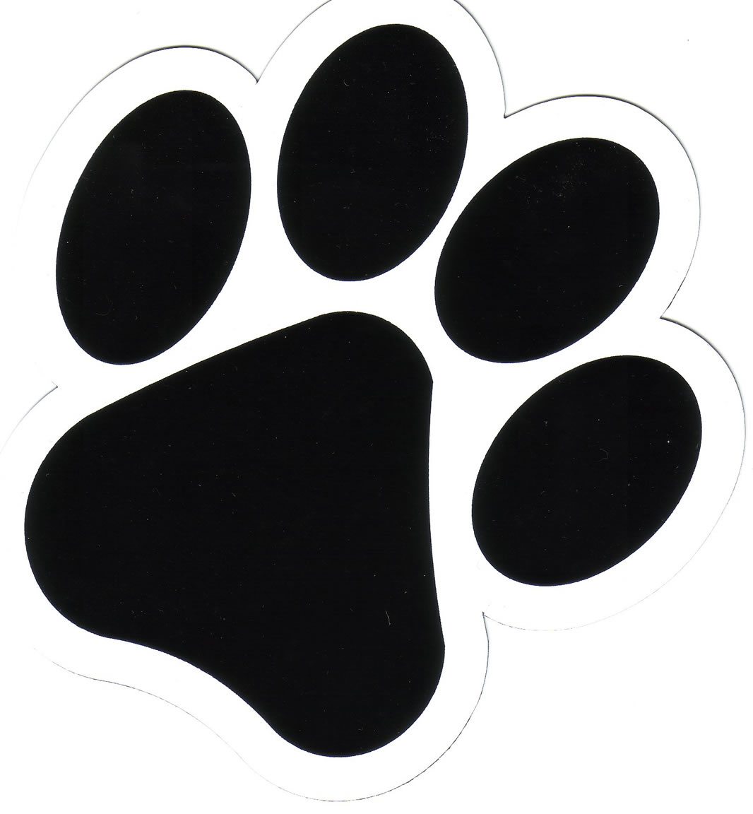 dog paw heart clipart