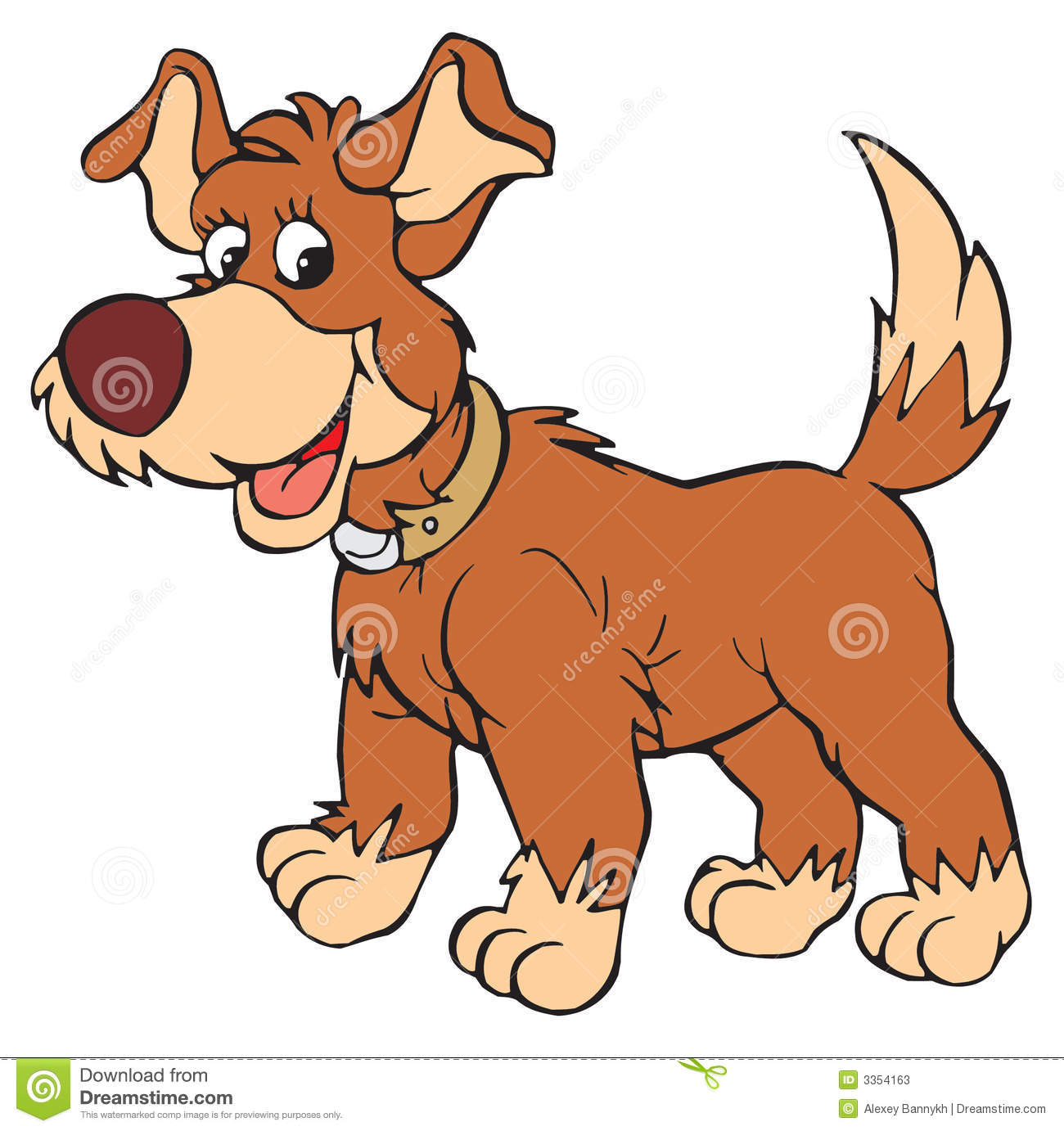 Dog and pup vector clip art .