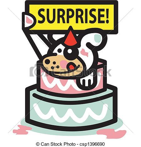 Dog Birthday Cake Surprise Party - Csp13-Dog Birthday Cake Surprise Party - csp1396690-2