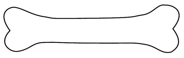 Dog Bone Clipart Outline Hvgj