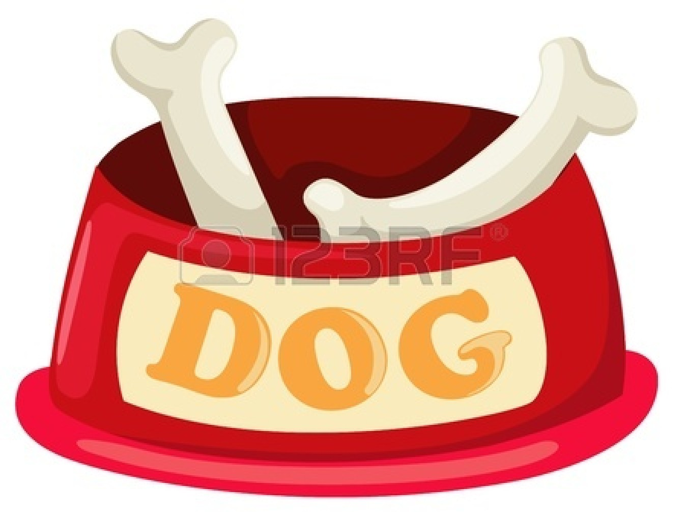 Dog Bone In Bowl Clipart 1762 - Dog Bowl Clipart