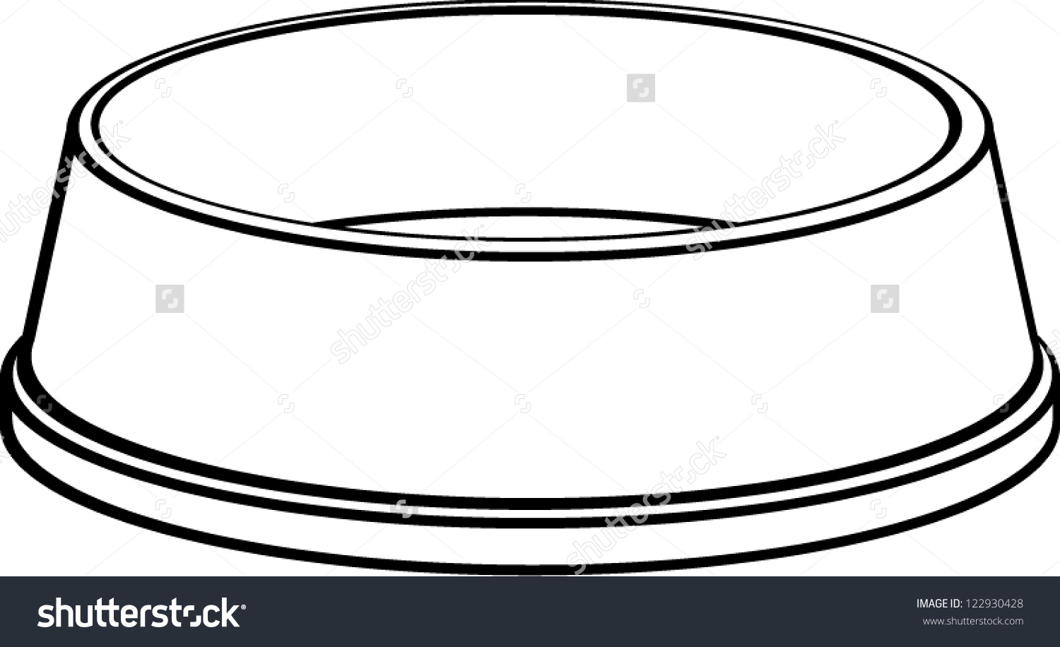 Dog Food Bowl Coloring Page P