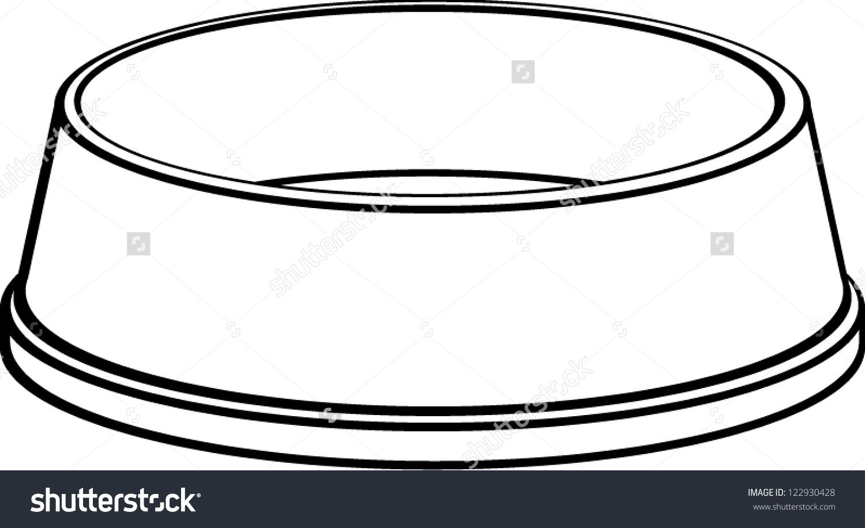Dog Bowl Stock Vector . - Dog Bowl Clipart