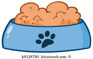 Dog Bowl With Food - Dog Bowl Clipart