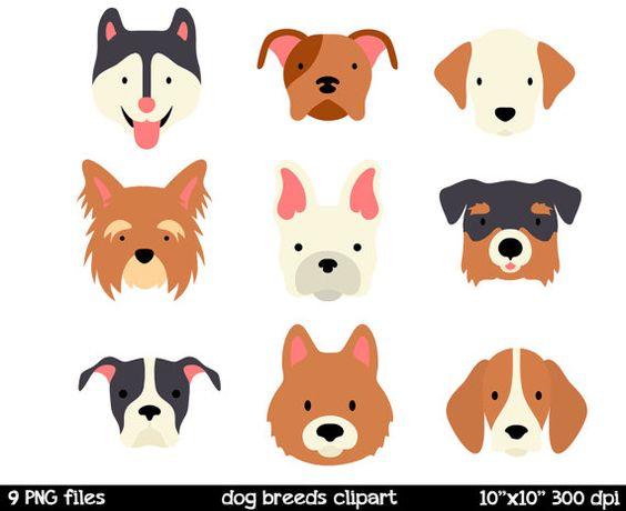 Dog Breeds clipart Dog Face Clipart Husk-Dog Breeds clipart Dog Face Clipart Husky Clipart by SorbetBox-17
