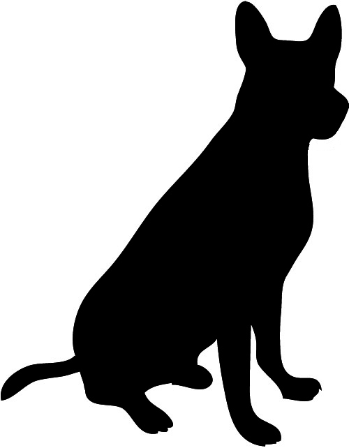 Dog clipart, Animal silhouette. shaefer male silhouette ...