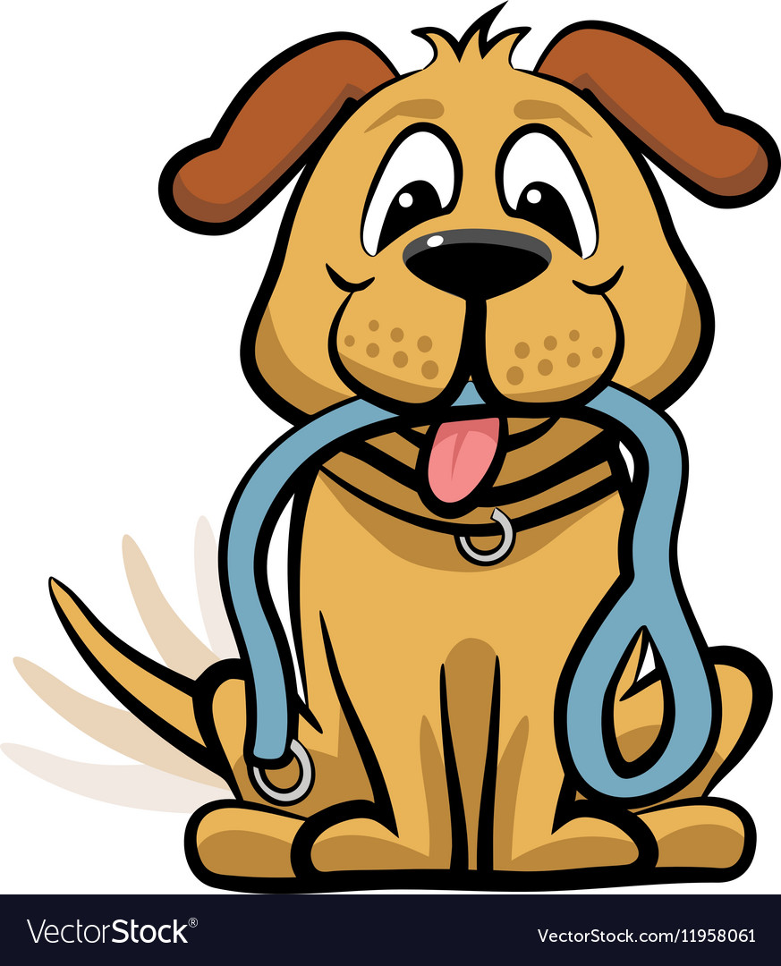 Dog waiting to walk clipart vector image-Dog waiting to walk clipart vector image-8