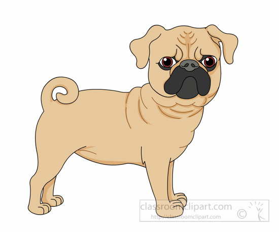 Dog Clipart Pug Dog Curly Tail Clipart 6125 Classroom Clipart