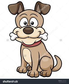Vector illustration of Cartoon Dog Cartoon Dog Drawing, Cartoon Pics,  Cartoon Drawings Of Animals