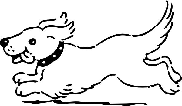 Dog For Coloring clip art .