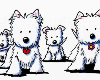 Dog Illust - ClipArt Best - Westie Clipart
