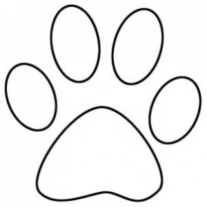 Dog paw outline clipart - .