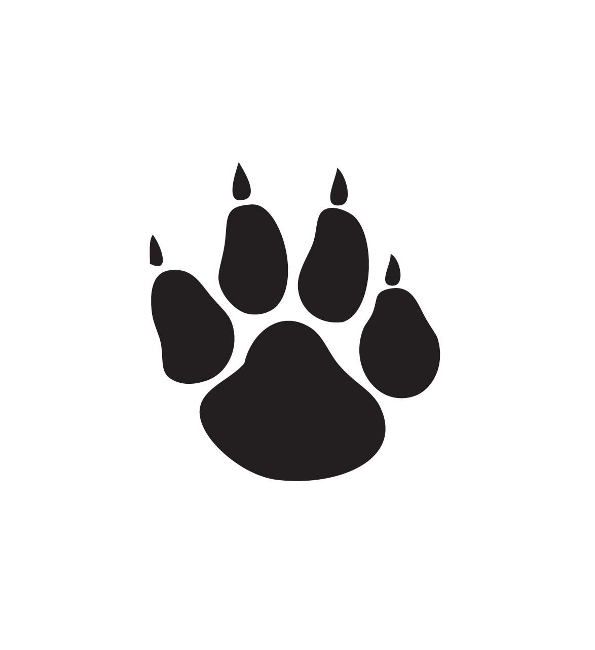 Dog paw print clip art free download 3