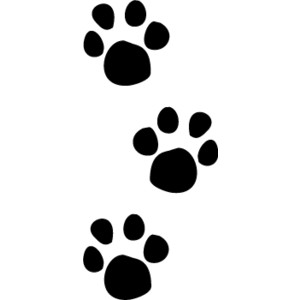 Dog paw print stamps dog prints clip art clipartcow