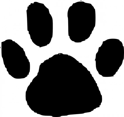 Dog paw print vector free Free .