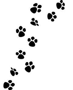 Dog Paw Prints; Cat Paw Print .-Dog Paw Prints; Cat Paw Print .-12