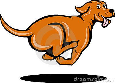 Dog Running Clip Art