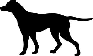 Dog Silhouette Clip Art. Clip .