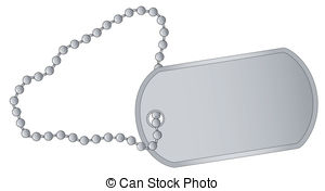... Dog Tag - A Military Style Dog Tags -... Dog Tag - A military style dog tags with chain.-1