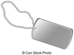 ... Dog Tag - Blank army dog tag isolated on white background