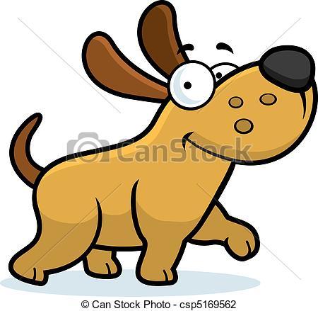 ... Dog Walking - A happy cartoon dog wa-... Dog Walking - A happy cartoon dog walking and smiling.-9
