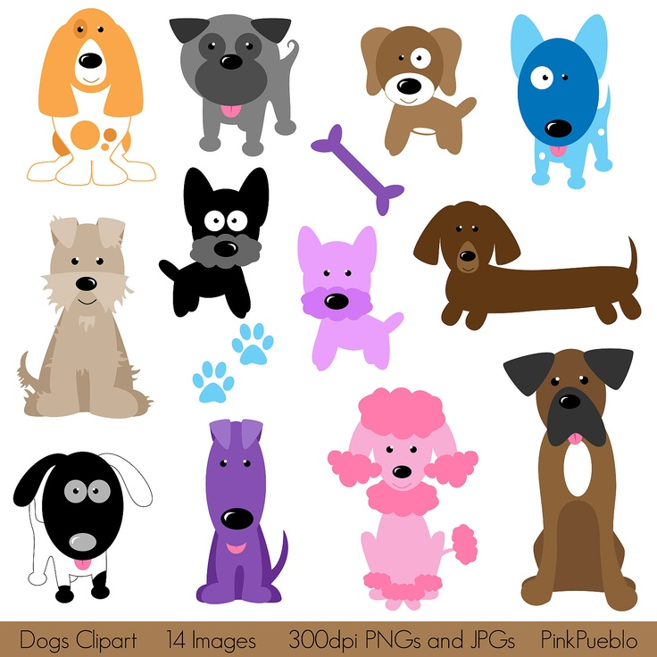 Dogs Clipart Clip Art, Puppy Clipart Cli-Dogs Clipart Clip Art, Puppy Clipart Clip Art - Commercial and Personal Use. $6.00-10