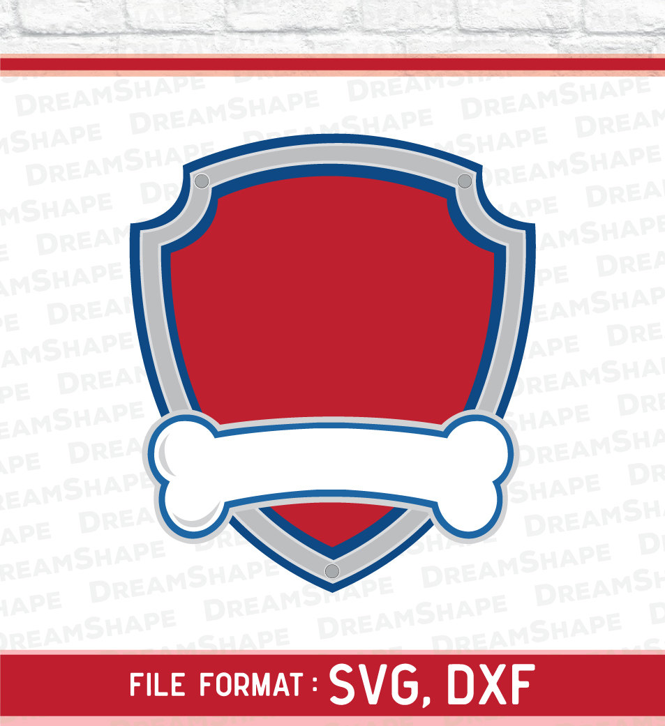 Dogs Paw Cartoon Logo SVG Fil - Paw Patrol Logo Clipart
