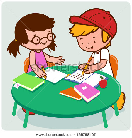 Doing Homework A Female And A Male Young-Doing Homework A Female And A Male Young Student Doing Their Homework-2