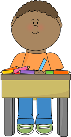 Doing School Work Clip Art Student Doing School Work Vector Image