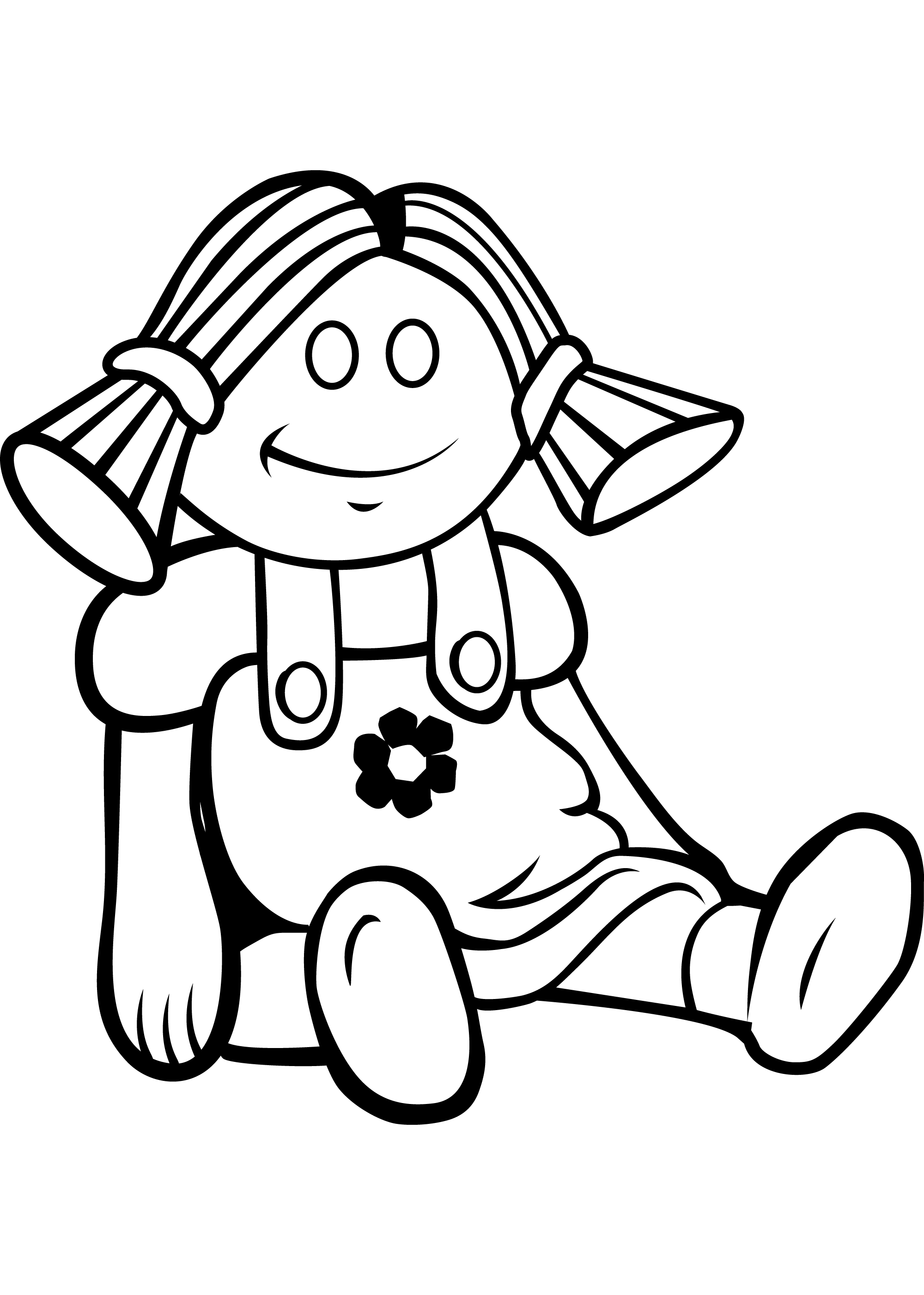 Baby Doll Clipart Black And White