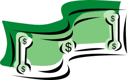 dollar bill clip art black and white