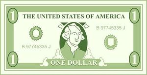 Dollar Bills Vector Clipart #1. dollar
