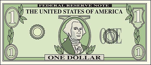 Dollar Bill vector art illustration