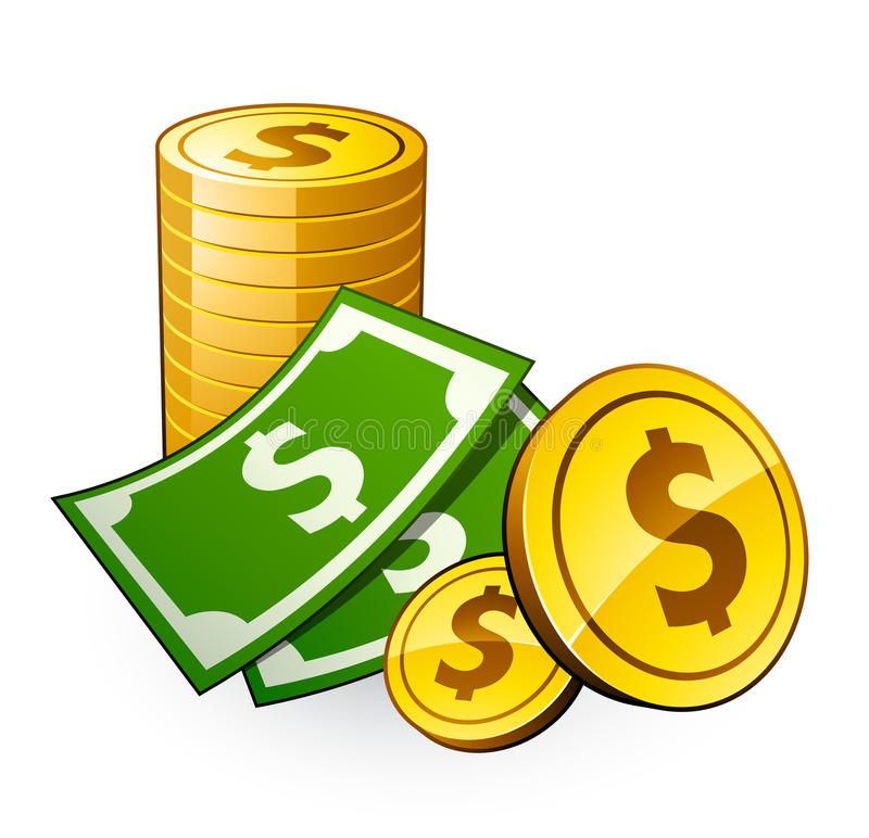 Download Pile of coins with dollar stock vector. Illustration of buying -  9622322