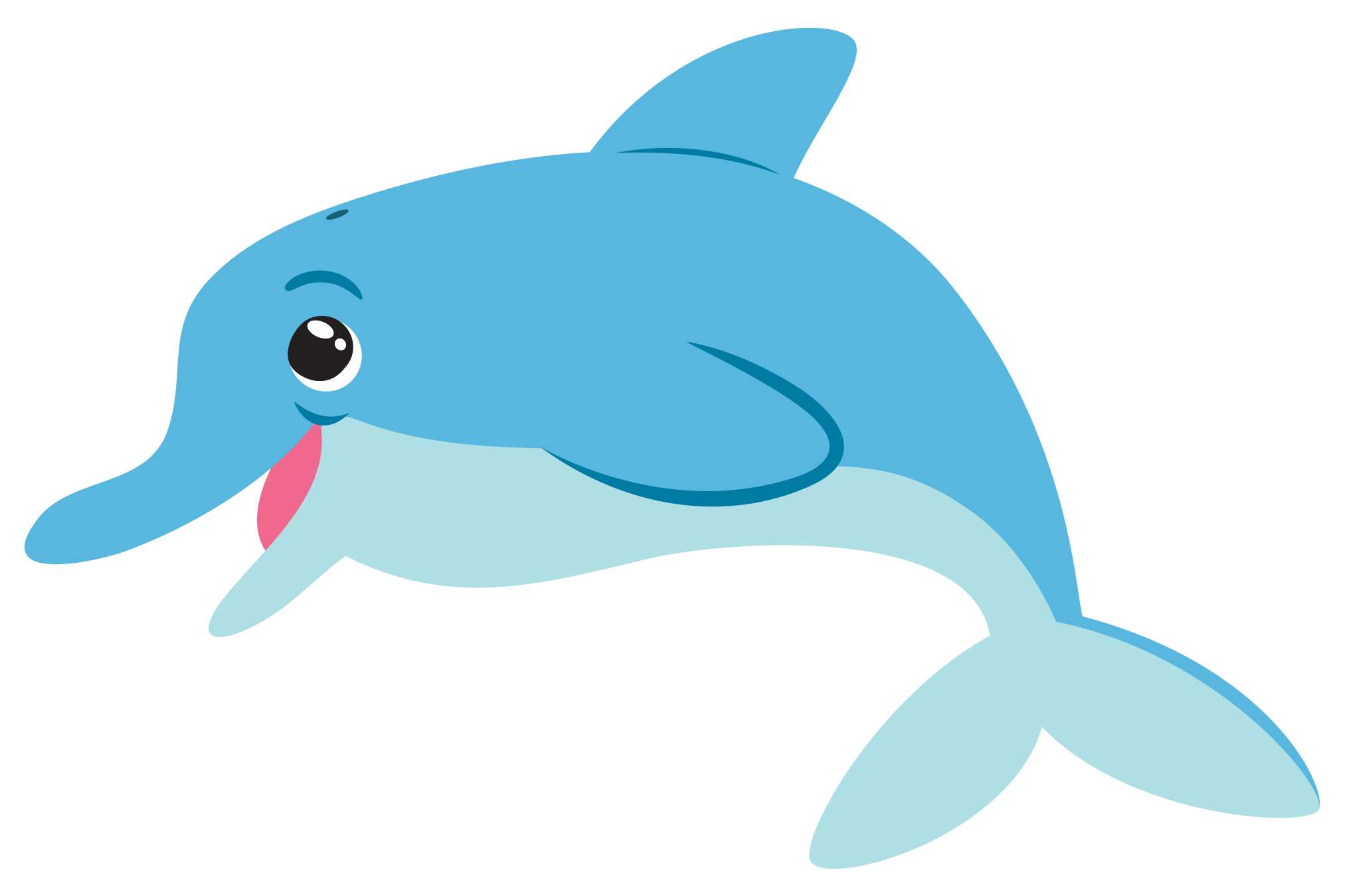 Happy Dolphin Clipart #1